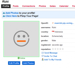 commongate profile page