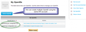 multiple openID