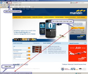 real mandiri front page (not modified)
